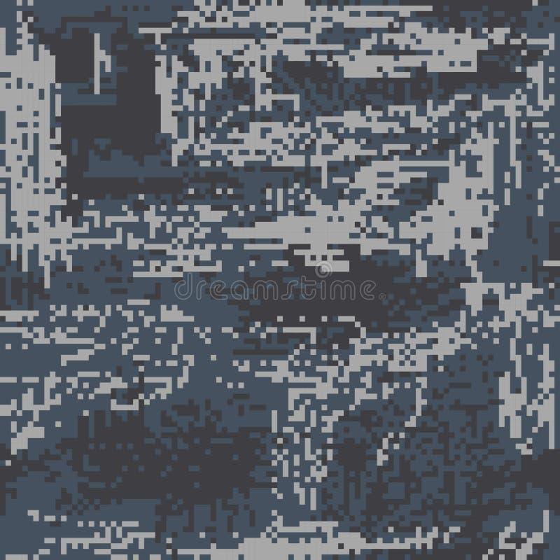 Пиксел колорита коричневого цвета камуфлирования безшовной картины защитный стоковая фотография