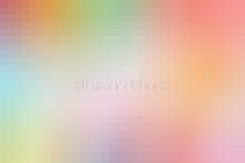 Пикселы абстрактной предпосылки красочные, цифровая квадратная картина бесплатная иллюстрация