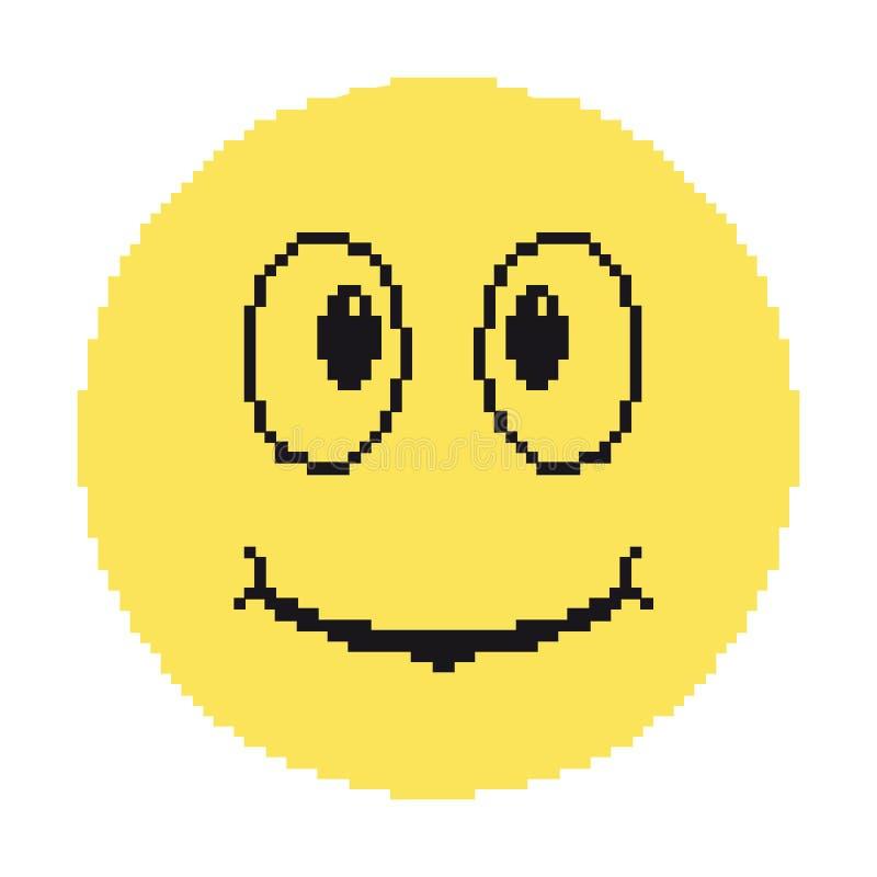 Пикселы Smiley стоковое фото rf