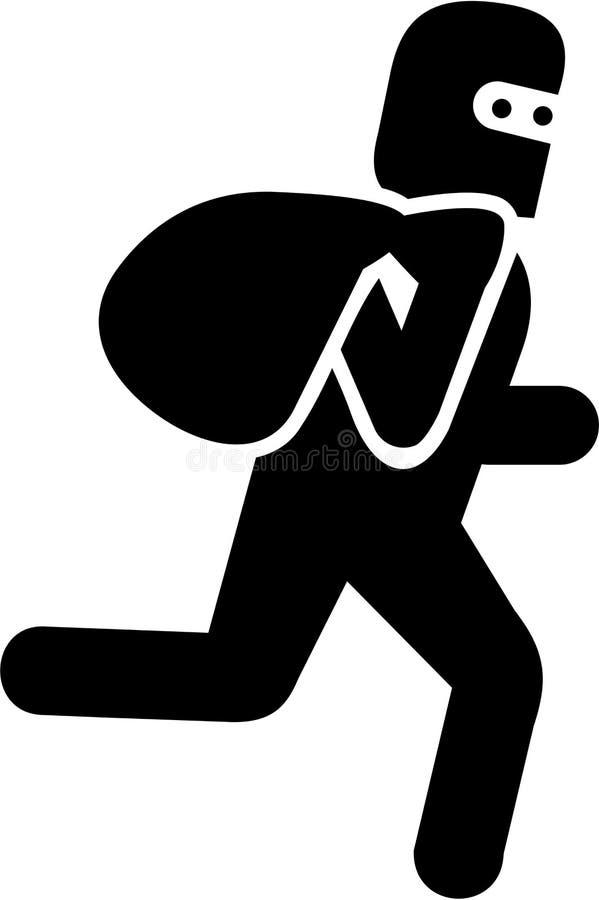 Пиктограмма похитителя с moneybag иллюстрация штока