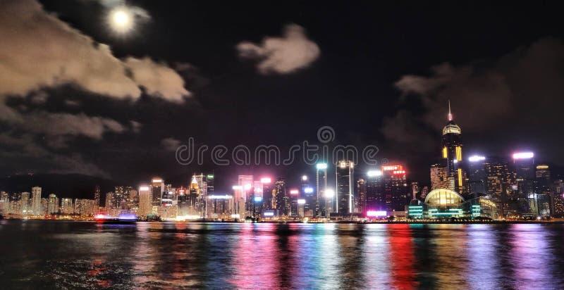 Пик Виктории в Гонконге стоковые изображения rf