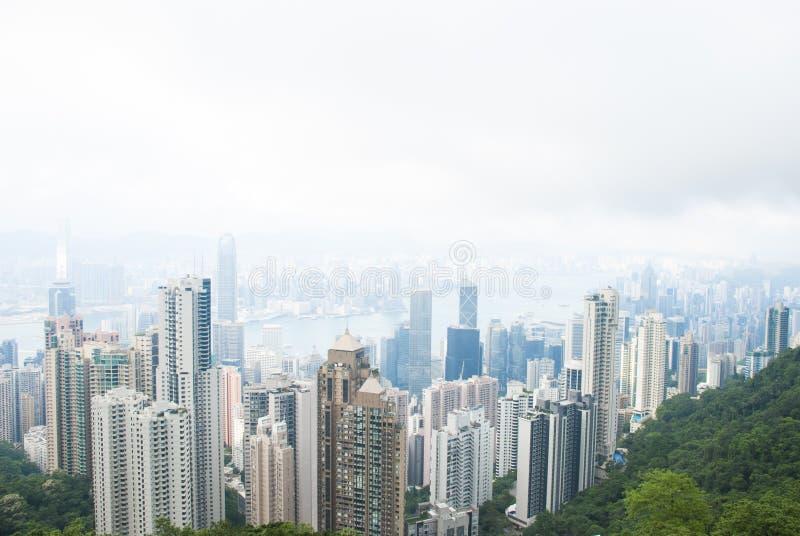 Пик Виктории, Гонконг стоковая фотография rf