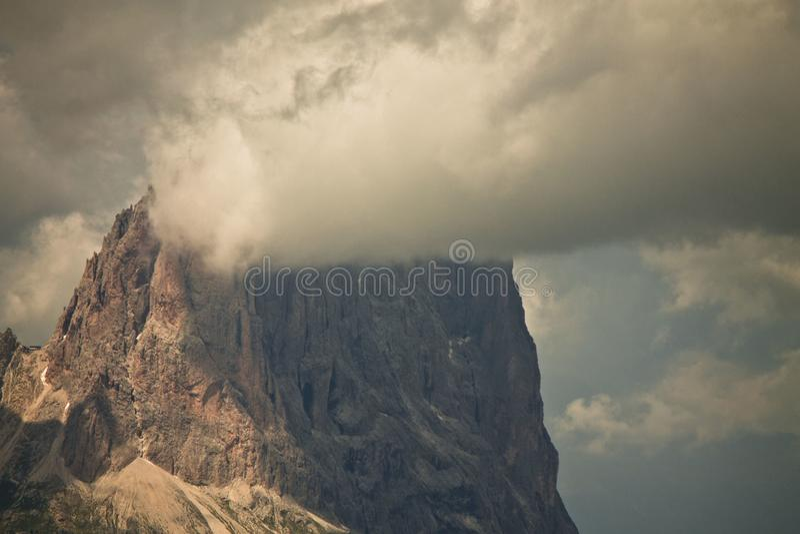 Пик доломитов стоковое фото rf
