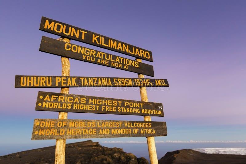 Пик Килиманджаро Uhuru стоковое фото