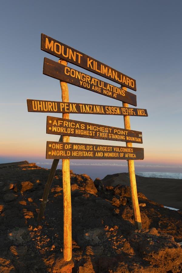 Пик Килиманджаро Uhuru стоковые изображения rf