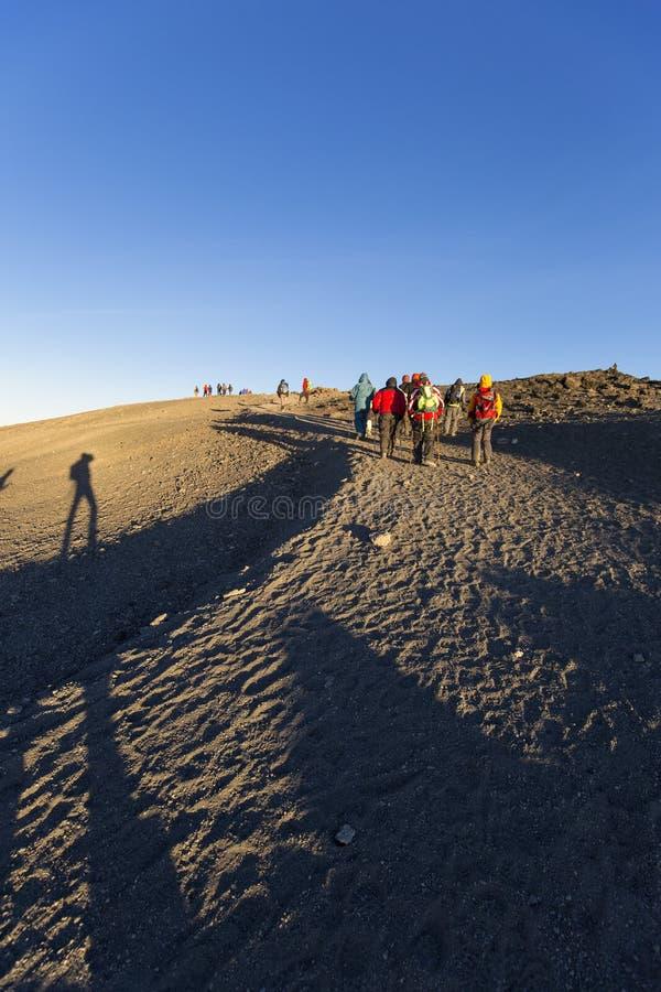 Пик Килиманджаро Uhuru стоковая фотография