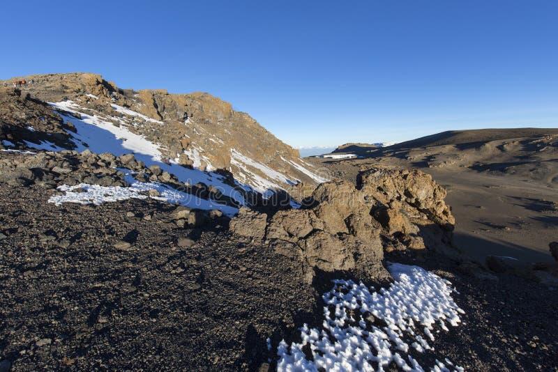 Пик Килиманджаро Uhuru стоковая фотография rf