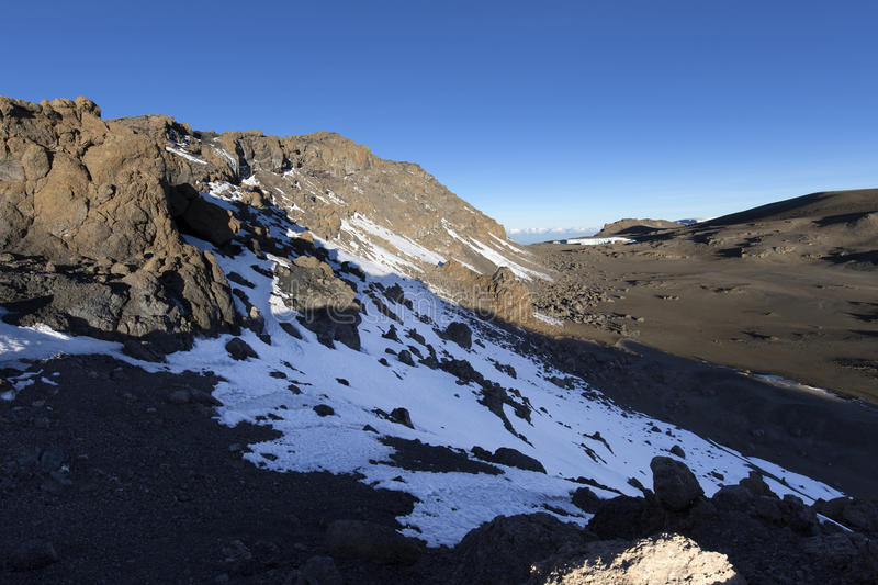 Пик Килиманджаро Uhuru стоковые фотографии rf