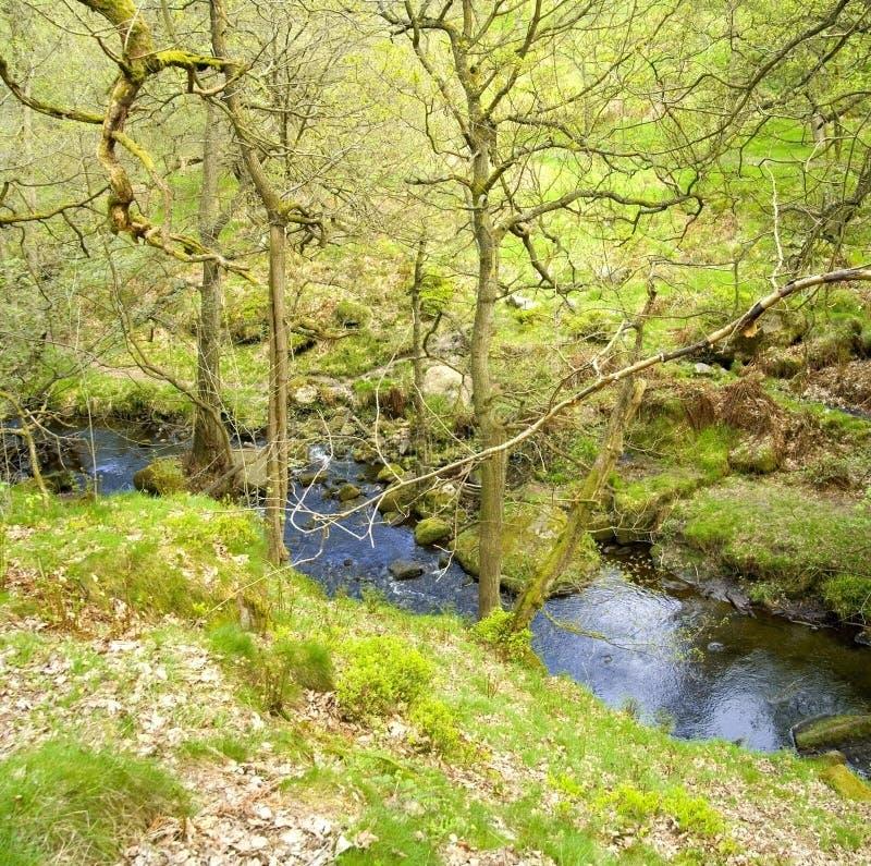 пик национального парка Англии заречья derbyshire стоковое изображение rf
