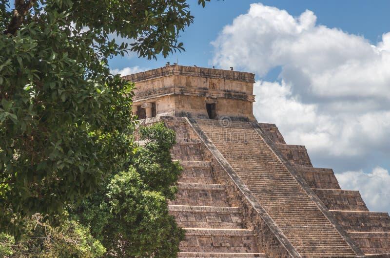 Пик на El Castillo стоковое фото rf