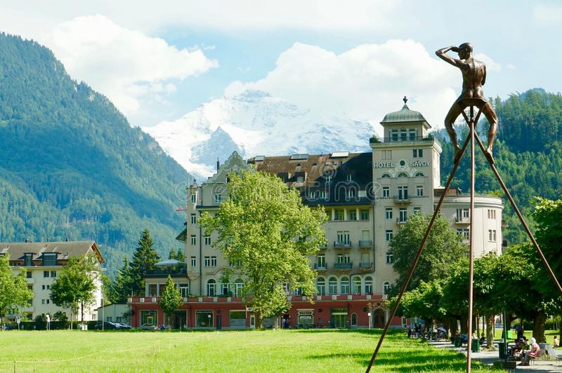 Пик Jungfrau стоковая фотография rf