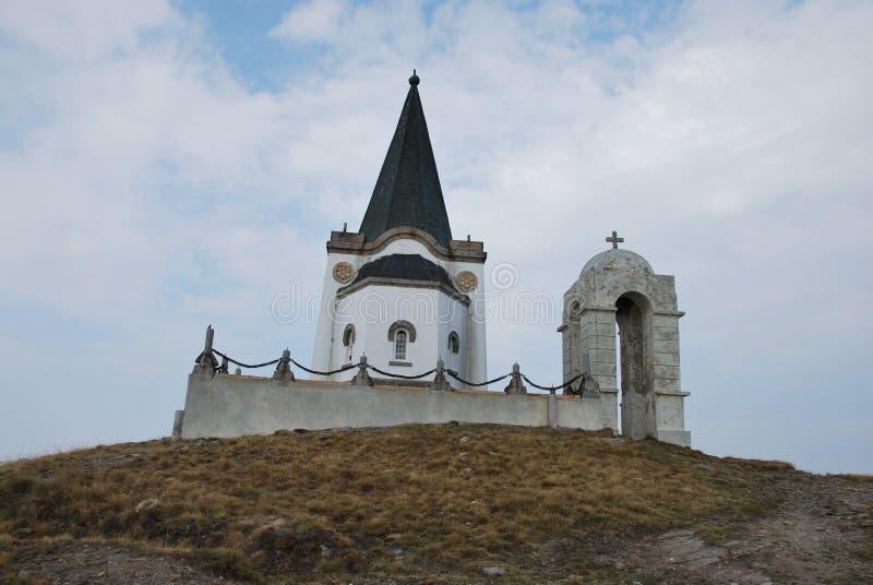 Пик Kajmakchalan, места сражения WWI стоковые изображения rf