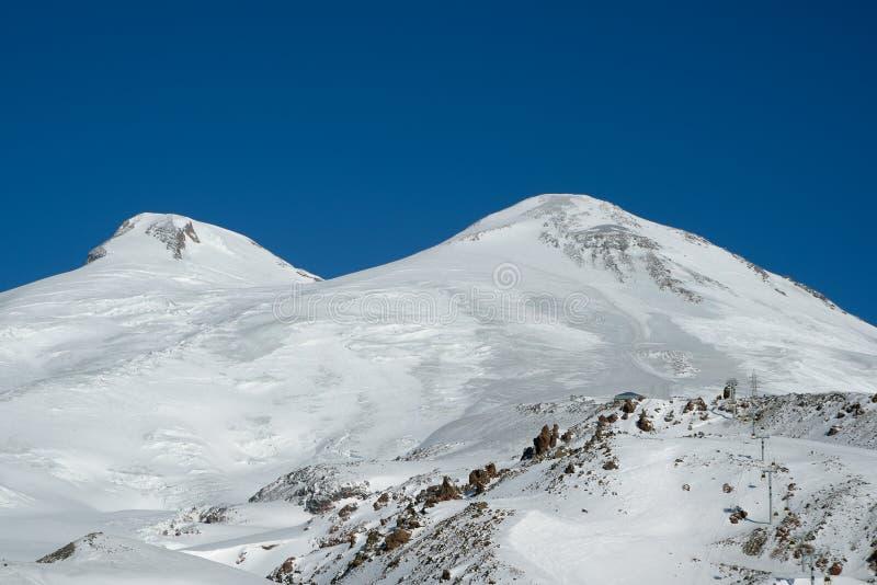 Пик Mount Elbrus стоковое фото rf