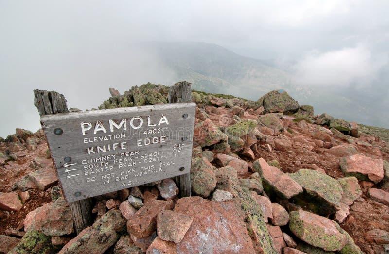 пик pamola Мейна стоковое изображение