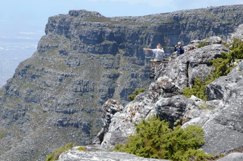 Пик ` s дьявола от горы таблицы, Кейптауна стоковые изображения