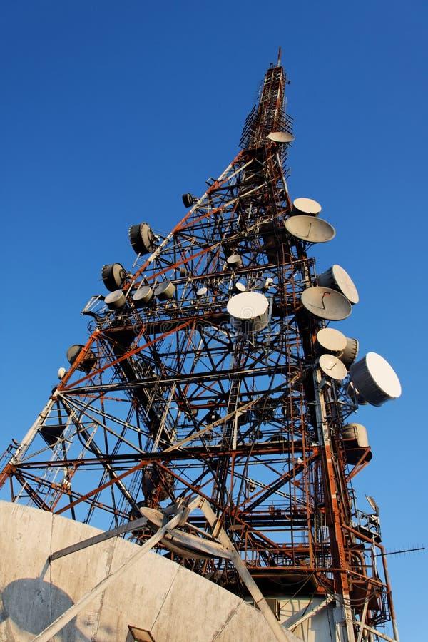 пик tv jaragua антенны стоковое изображение rf