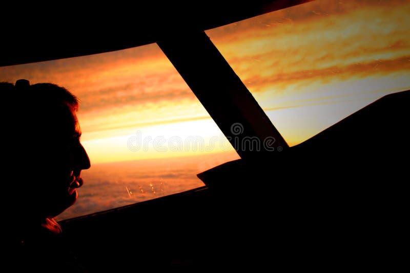 пилотируйте заход солнца стоковые фото
