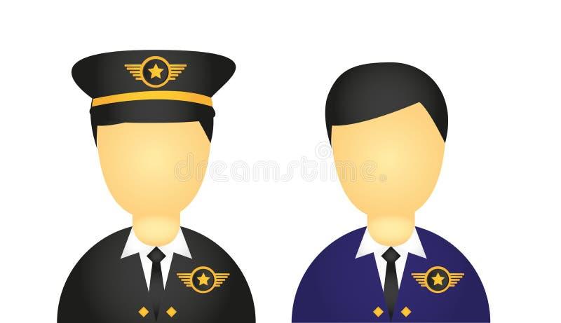 Пилотные иконы иллюстрация вектора