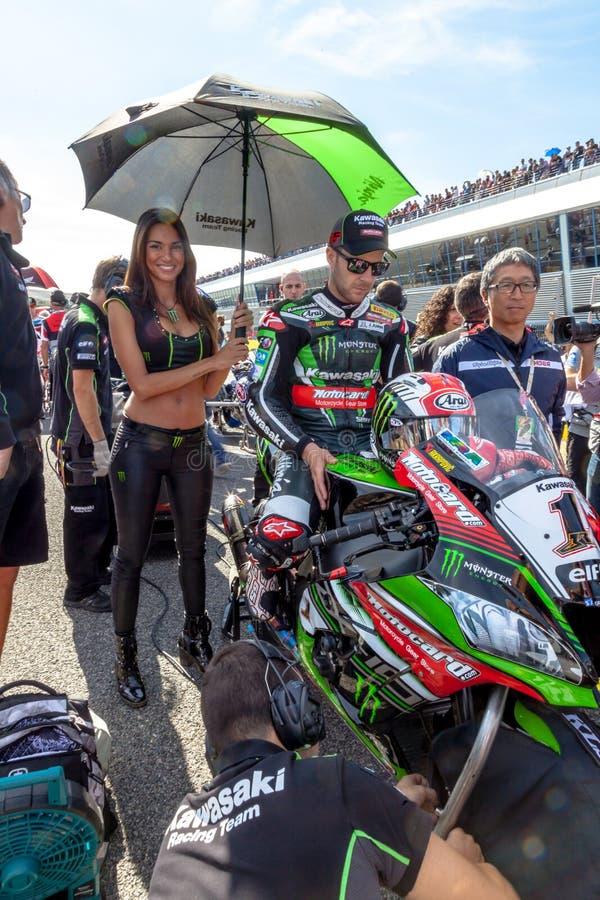 Пилот Джонатана Rea Superbikes SBK стоковая фотография
