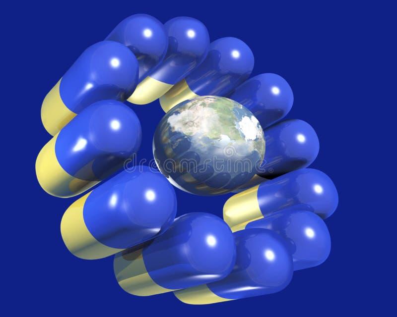пилюльки глобуса земли Стоковые Фото