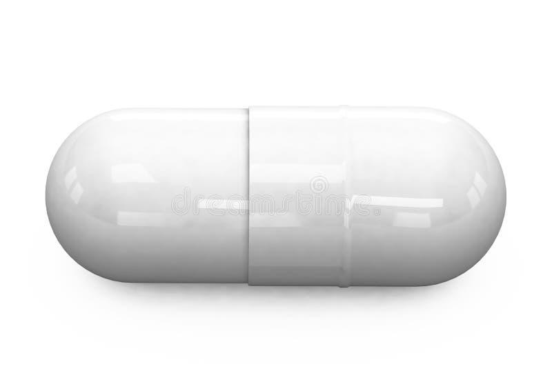 пилюльки предпосылки 3d белые стоковые фото