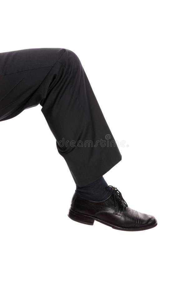 пинать ногу стоковое фото rf