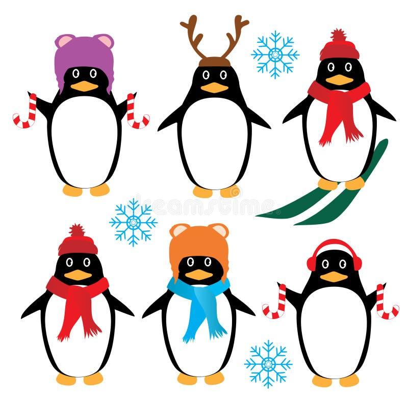 Download Пингвины вектора смешные иллюстрация вектора. иллюстрации насчитывающей заморозок - 81814258