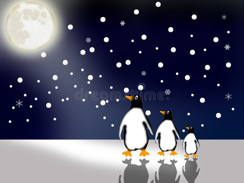 пингвины бесплатная иллюстрация