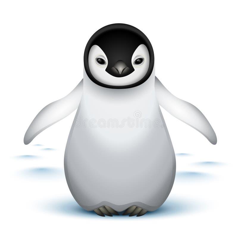 пингвин императора младенца маленький иллюстрация вектора