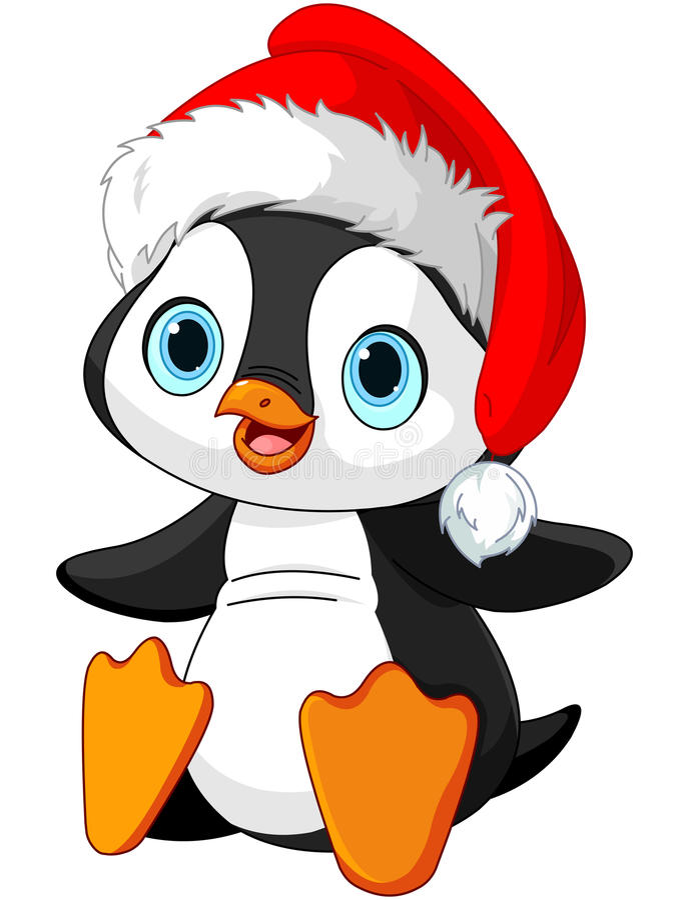 Пингвин рождества иллюстрация вектора