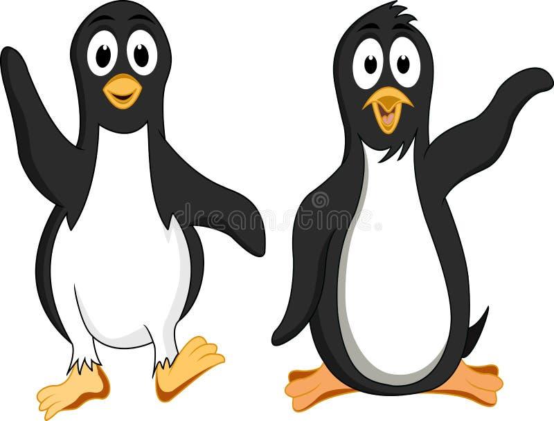 пингвин шаржа смешной иллюстрация вектора