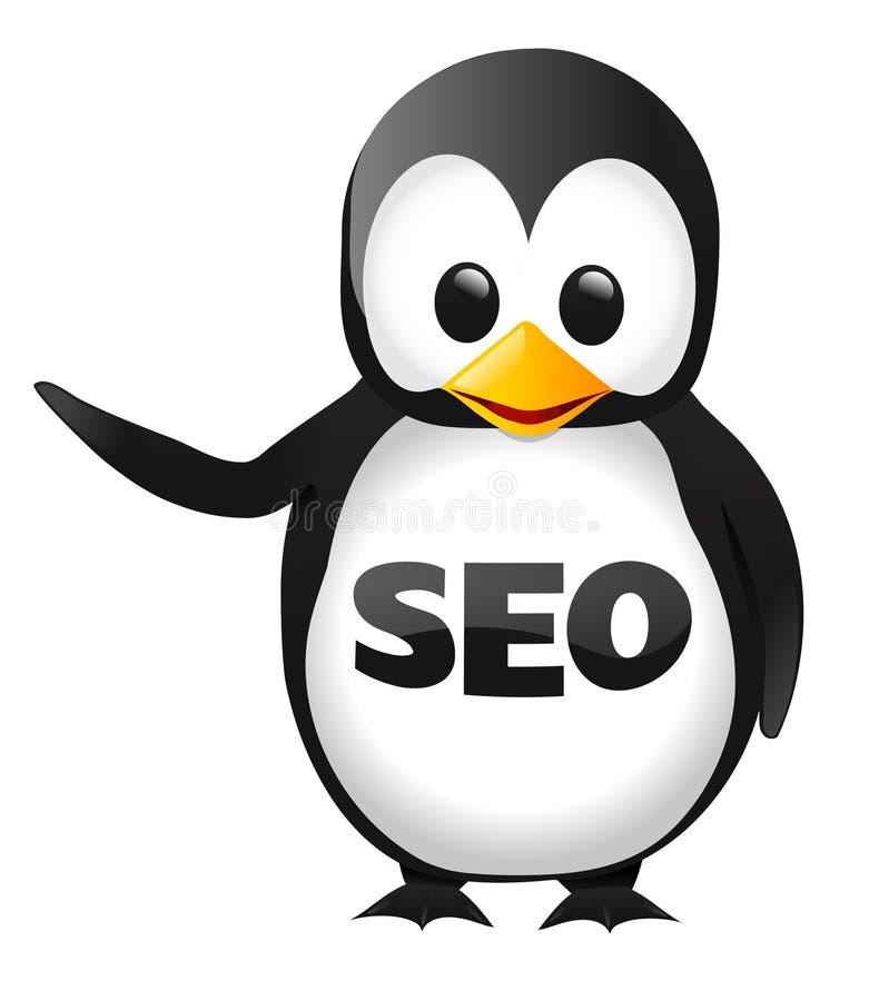 Пингвин SEO иллюстрация вектора