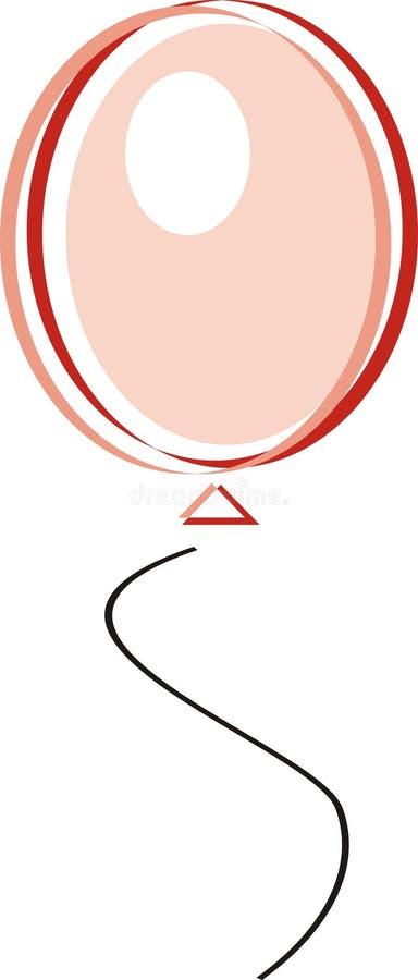 пинк воздушного шара иллюстрация вектора