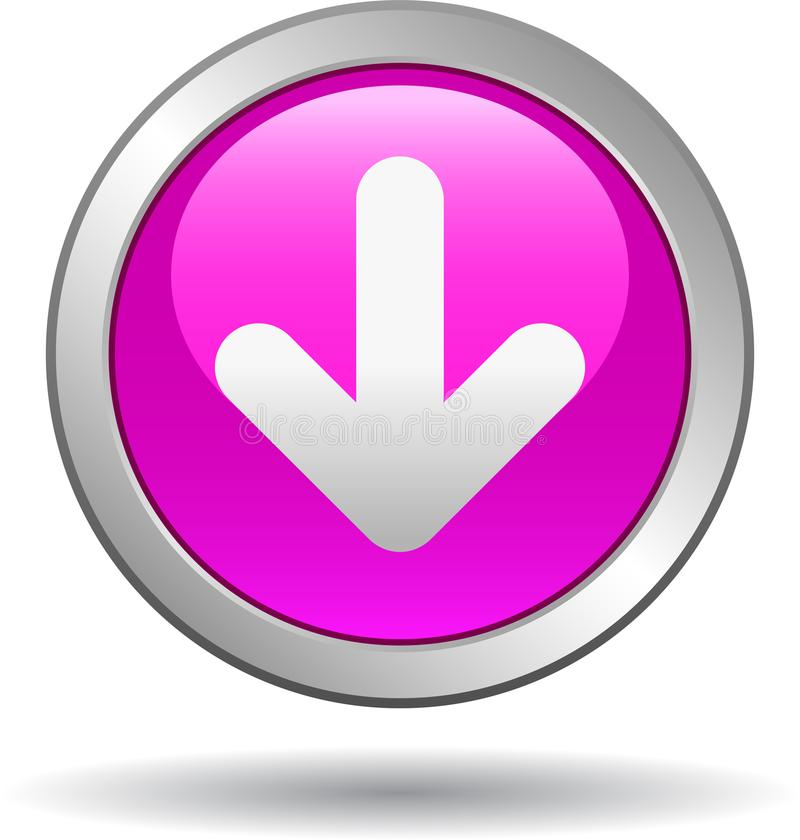 Пинк значка сети кнопки загрузки бесплатная иллюстрация