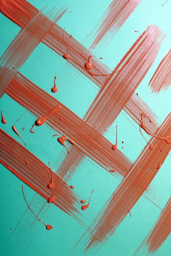 Пинк и голубая краска Splats и абстрактное украшение предпосылки стоковые изображения rf
