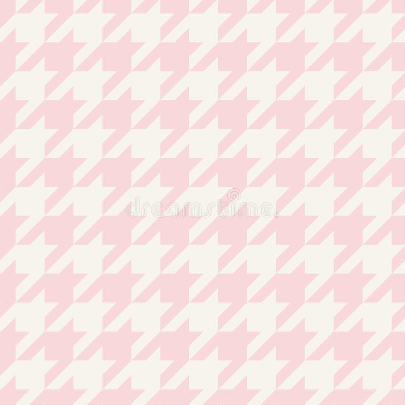 Пинк и серый цвет вектора Houndstooth безшовные пастельный кроют картину или предпосылку черепицей бесплатная иллюстрация