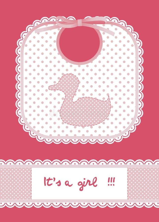 пинк карточки младенца иллюстрация штока