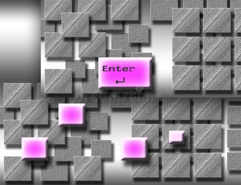 пинк кнопки иллюстрация вектора