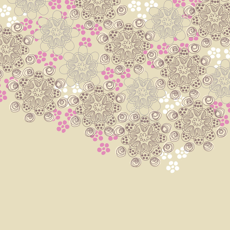 пинк коричневой конструкции флористический иллюстрация вектора