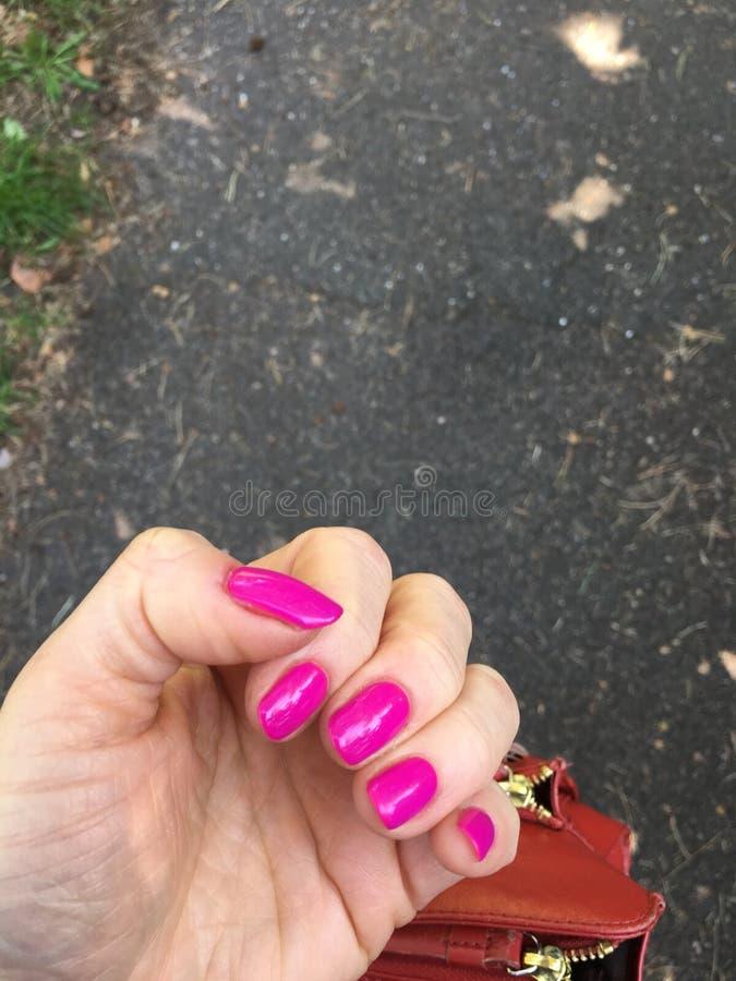 пинк ногтей стоковая фотография