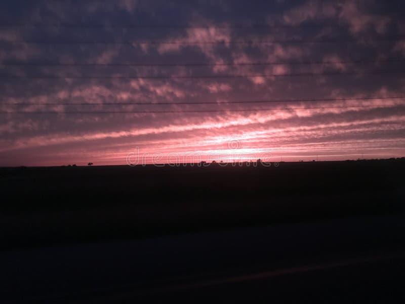 Пинк облака Солнця стоковые фото