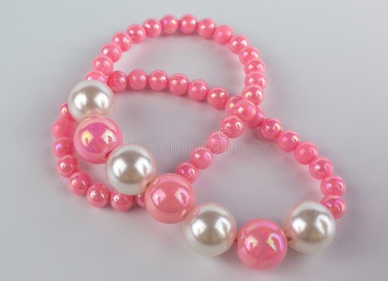 пинк перлы ожерелья стоковые фото