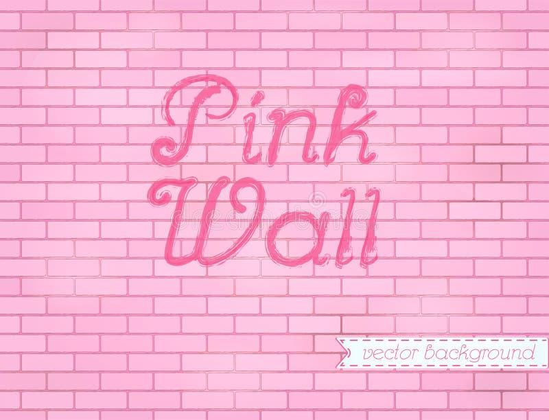 Пинк поднял фон предпосылки кирпичной стены grunge бесплатная иллюстрация