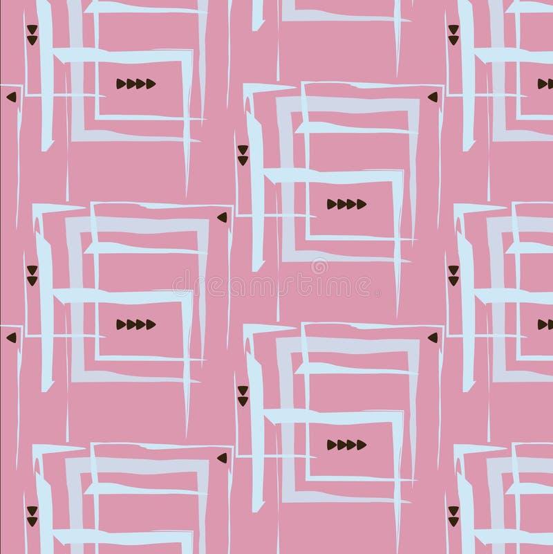 Пинк предпосылки треугольника картины прямоугольника Стильный вектор моды можно использовать как печать или крышка иллюстрация штока
