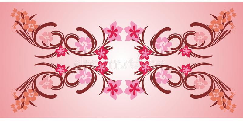 пинк рамки 01 цветка бесплатная иллюстрация