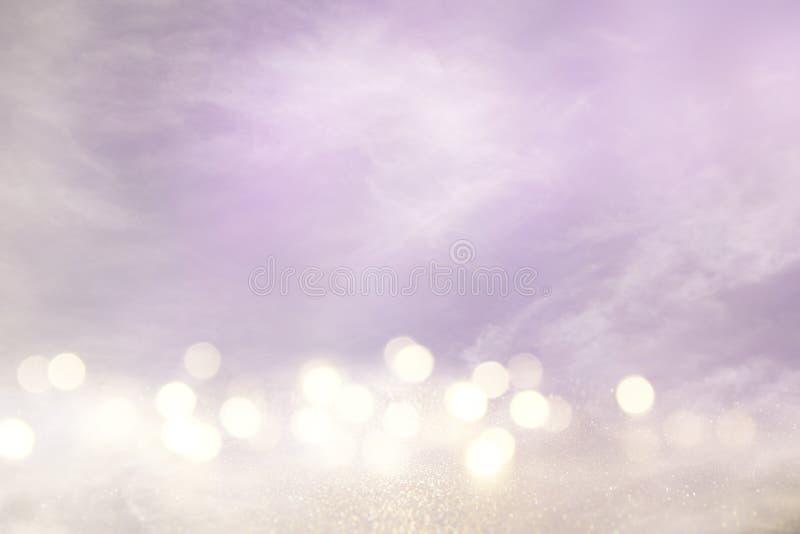 пинк, света света - фиолетовые и серебряные абстрактные bokeh стоковая фотография