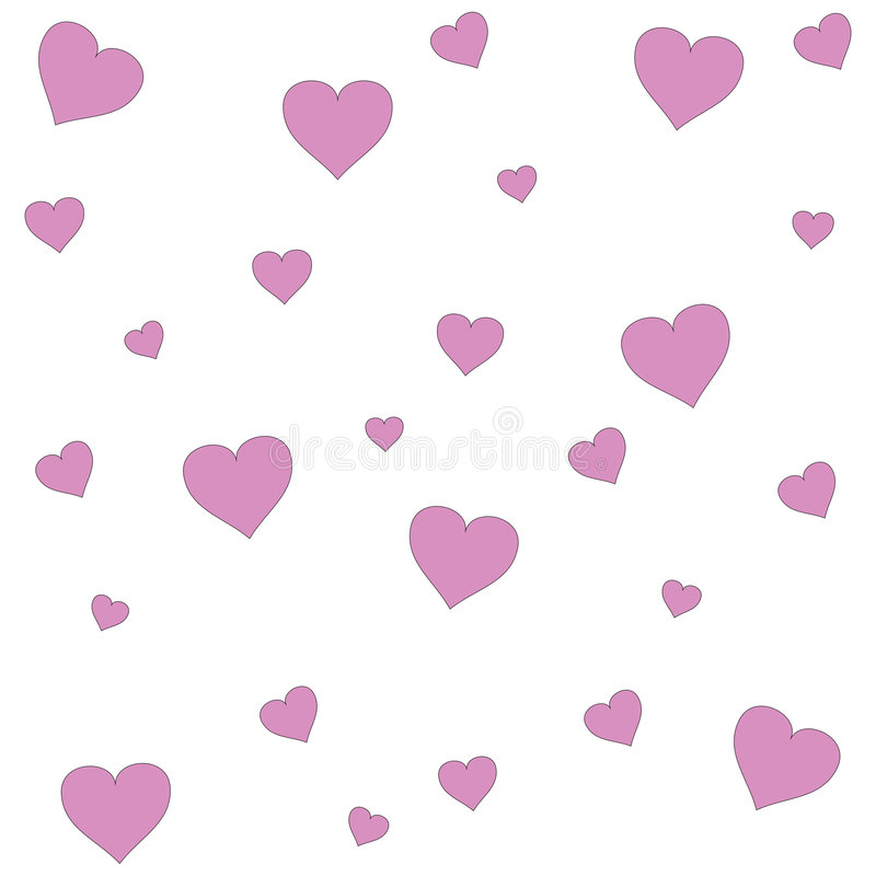 пинк сердец иллюстрация вектора