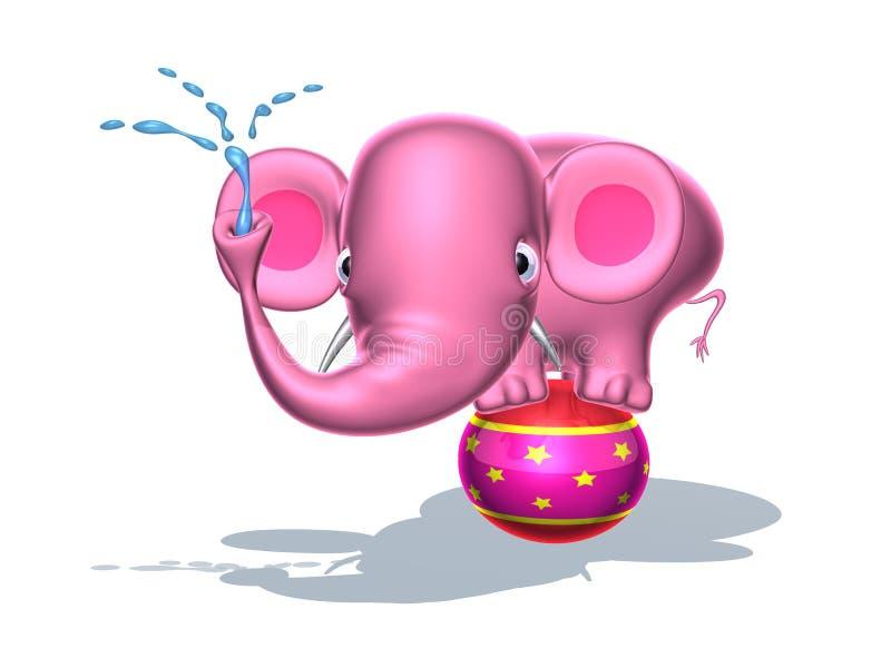 пинк слона иллюстрация штока