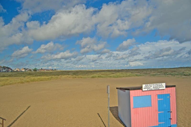 пинк хаты пляжа стоковые изображения rf