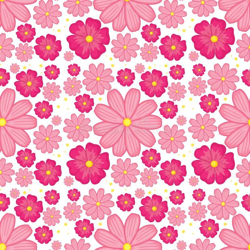 пинк цветка предпосылки безшовный иллюстрация вектора